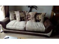 Three seater sofa vgc