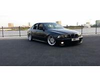 "2001 51 BMW 530D SPORT AUTO BLACK LEATHER + 18"" PARRALEL + MODIFIED + REMAP STANCE LOWERED SHOW CAR"