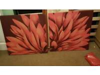 2 x canvases