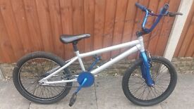 Bmx silver and blue