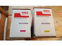 OKI Toner Cartridges: Yellow & Magenta toner for C810/C830 printers (sealed & original)