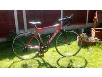 Adult, alloy. Carrera Zelos. Road/race bike. Serviced ready to ride.