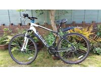 "Carrera Crossfire 1 Mens Hybrid Bike ~12 months old, very light usage, large (19"") frame"