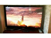 TV Samsung 3d 50' and three glass.