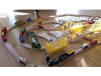 65 piece large Wooden train set