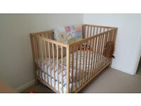 Wooden Cot from Ikea