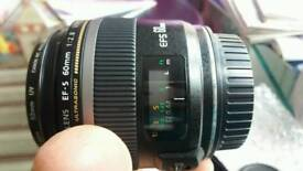 Canon lens EFS 60mm f/2.8 Macro USM