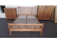 Julian Bowen Bergamo Oak Double Bed CAN DELIVER View Collect Hucknall Nottingham
