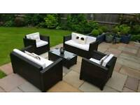 Rattan 2 seat sofas and chiars