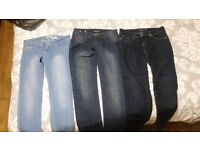21 pairs of womens jean size 10 to 12