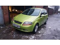 03 daewoo kalos 1.4 petrol green moted 5 door 80 warranted mileage