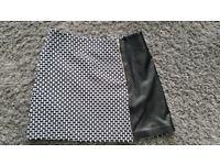 Black and white skirt, size 12/14