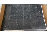BETTER BATHROOMS GEMSTONE BLACK MOSAIC TILES FOR SALE (UNUSED 12 Sheets)