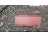 Roofing tiles clay blues reds ridges etc tiles hips