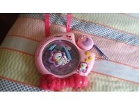 Pink night light for baby girl cot