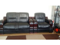 Itailian leather 2 seater and 1 seater sofa