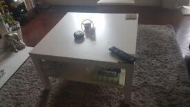 White square coffe table