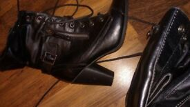 Ladies heeled boots size 5 brand new