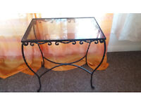 Glass table in excellent condition