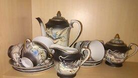 pottery porcelain & glass Japanese Guisha Tea and coffee set