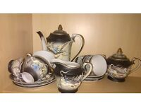 pottery porcelain & glass Japanese Guisha Tea and coffee set
