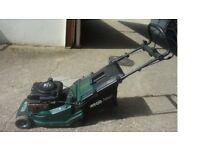 Atco self propelled petrol roller mower