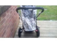 For sale is a used but in good condition, Quinny buzz pram/stroller with accessories