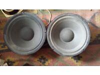 Fane 12 inch Speakers x 2 , vintage Marshall Hiwatt Wem