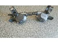 Set of mtb gear selectors