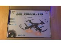 Fantastic Drone Camera Air Ninja HD High Performance Helicopter 360 Flips Quick Charge Brand New