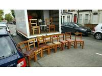 Selection of solid wooden dining room chairs £5 a peiceONLY2 left