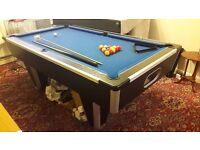 7ft x 4ft slate bed pool table. Price includes new recover in colour of your choice.