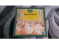 the great composers Johann Strauss vintage vinyl lp record