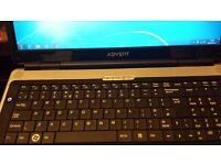 17 INCH SCREEN LAPTOP: VERY CLEAN VERY LITTLE USE: AS HUSBAND IN FORCES AND JUST USED FOR SKYPE