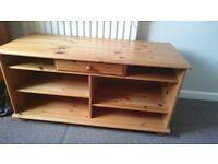 Pine wooden tv unit