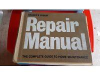 Vintage 1972 Original Readers Digest Home Repair Manual