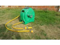 Hozelock reel with 18m hose and sprayer
