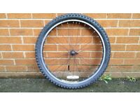 front mountain bike wheel, found in new home previus occupier left!Can deliver or post!