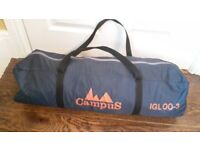 CAMPUS IGLOO-3 TENT LIKE NEW 3 BERTH