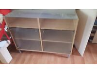 cabinet sideboard storage furniture frosted glass