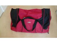 Red and Black Travel Bag