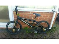 Rooster attitude black and gold BMX bike, 20inch