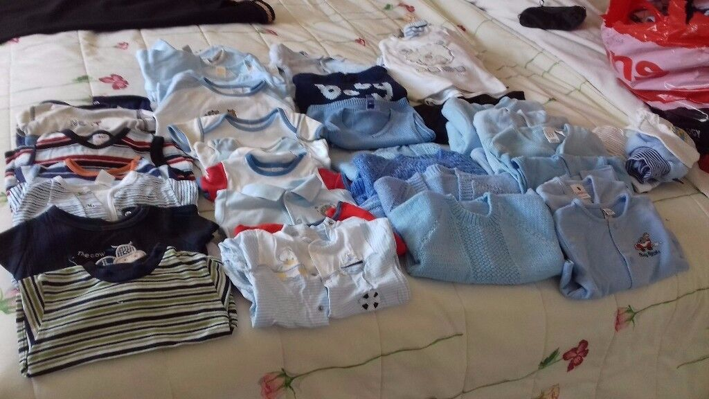 Baby boy clothes 0-3 months to 12 months