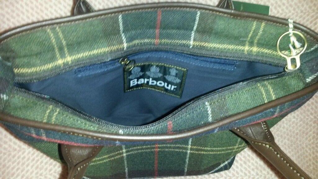 New With Tags Woman S Barbour Dee Tartan Handbag Rrp 129
