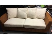 Conservatory wicker sofa from Next