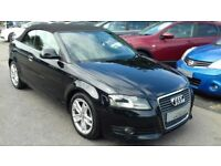 2008/58 AUDI A3 CONVERTIBLE 2.0 TDI SPORT, STUNNING LOOKING WITH FULL LEATHER SEATS, REAR PARK AID