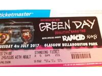 2 Green Day Tickets for Bellahouston Park, Glasgow