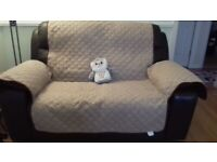 2 Reversible protective covers for 2 seater sofa's