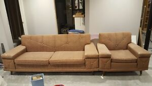 Vintage 60's couch & chair