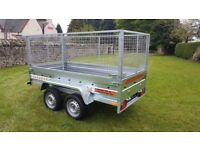 NEW TRAILER - 8,7FT X 4,2FT WITH MESH £1200 inc vat BEST PRICE